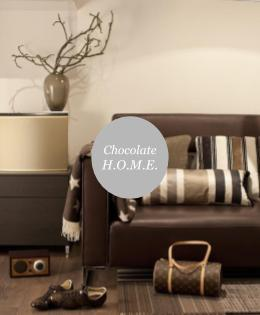 Interiors inspired by chocolate