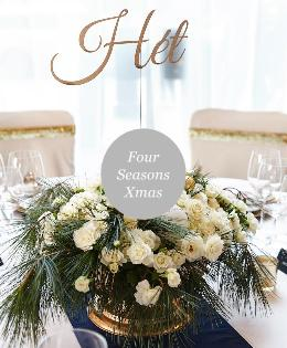 Christmas Table Setting For Events in Four Seasons Hotel Budapest
