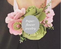 Custom- andhandmadepaper flower jewelry