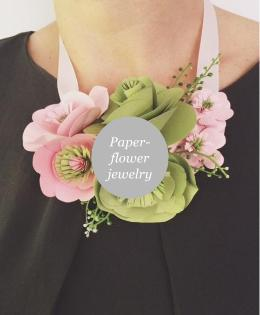 Custom- and handmade paper flower jewelry